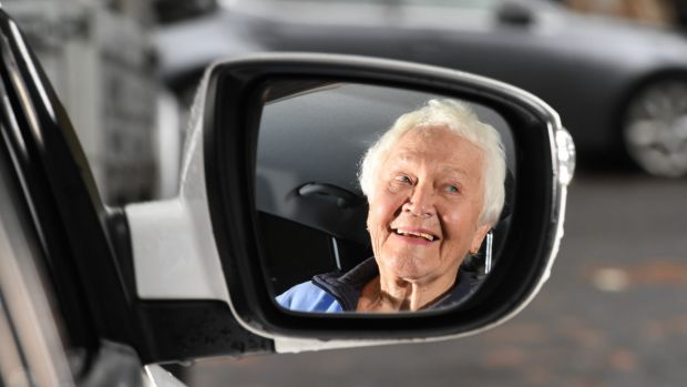 Shirley Bains is 85 and she has just passed her driving test, which is compulsory for anyone 85 and older every two ...