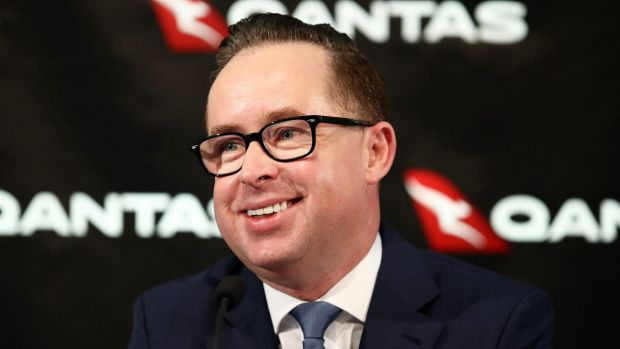 Qantas boss pay almost doubles in one year