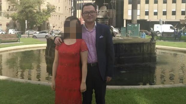 Nick Hao with his wife on their wedding day
