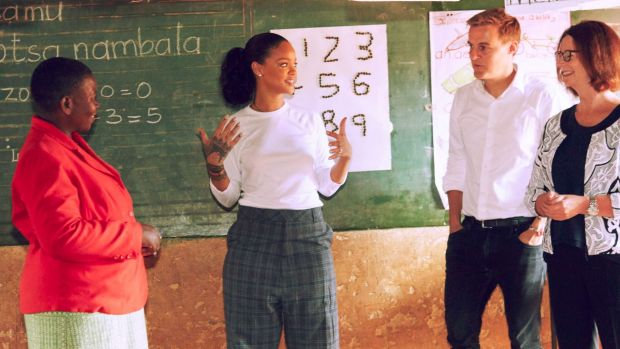 Rihanna Visits Malawi Schoolchildren, Helps Teach Math in New Short Film