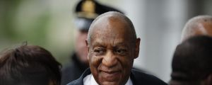 Bill Cosby arrives for his sexual assault trial.