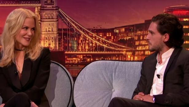 Nicole Kidman encourages Kit Harrington to propose to Rose Leslie.