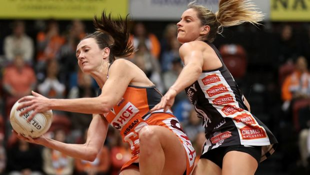 Back with a vengeance: Bec Bulley of the Giants has been one of Super Netball's most consistent defenders.