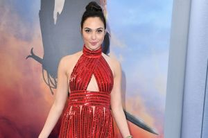 "Gal Gadot arrives at the Premiere Of Warner Bros. Pictures' ""Wonder Woman""."