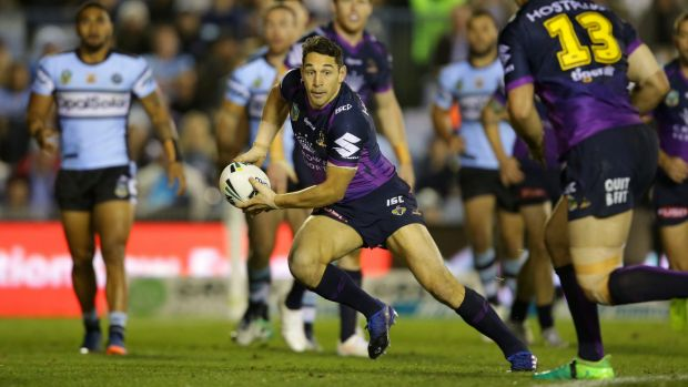 Origin audition: Billy Slater all but booked his place for Queensland in the second match-up.
