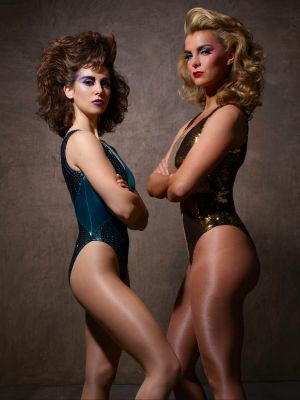 Glowing: Alison Brie and Betty Gilpin.