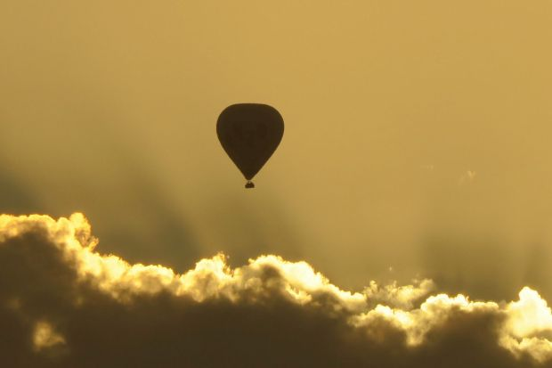 Warm Weather for a balloon at dawn over Melbourne.