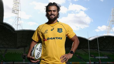 Karmichael Hunt, at AAMI Park on Friday, looks forward to repaying Wallabies coach Michael Cheika's faith in him.