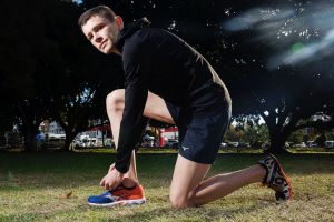 Competitive runner Dylan McCuaig-Walton tried minimalist running shoes for a while.