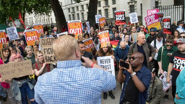 Protesters outside Downing Street in London call on the PM to resign. Electorates are getting more unpredictable and ...