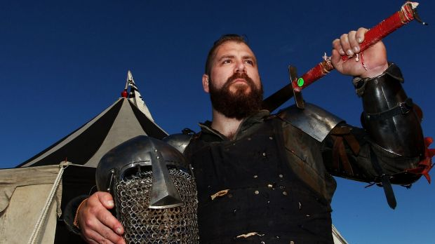 Tim Reeves, a Sydney fighter from Team Havoc, competed in the swordfighting tournament.