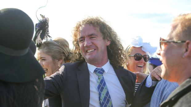 STANDARD, NEWS, MAY RACING CARNIVAL DAY 3, RACE 7 GRAND ANNUAL STEEPLECHASE 170504 Pictured - Trainer Ciaron Maher ...