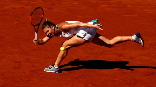 Romania's Simona Halep took Jelena Ostapenko of Latvia to three sets in the French Open final at Roland Garros.