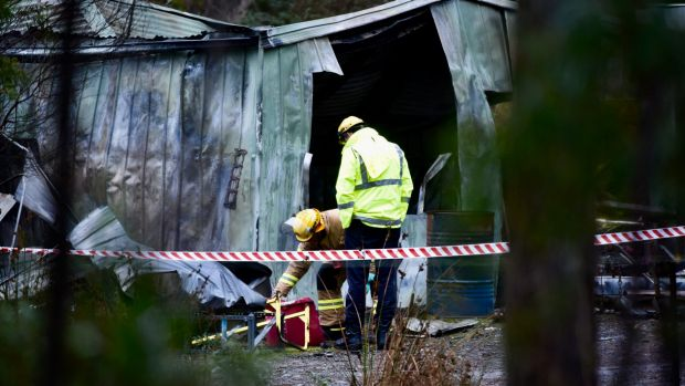 Two children have died in a shed fire at Turners Marsh. Photo: Neil Richardson/The Examiner