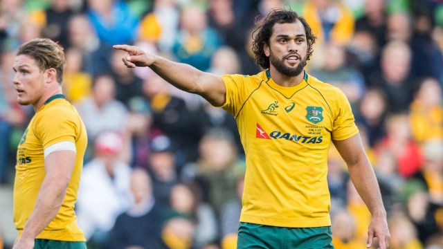 Sidelined: Karmichael Hunt has not played for the Wallabies since the Italy Test in June.