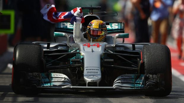 On top: Lewis Hamilton claims his sixth title in Montreal at the Canadian GP.