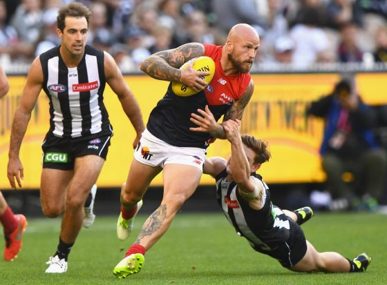 Melbourne's midfield will be disrupted while Nathan Jones recovers from injury.