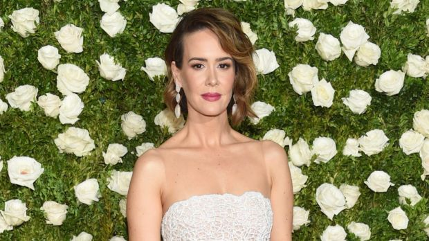 Sarah Paulson arrives at the 71st annual Tony Awards, 2017.