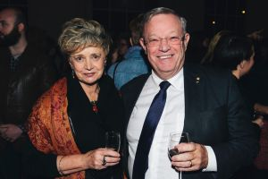 Lea McAuley of Hawker and Terry O'Brien of Red Hill