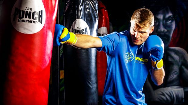 Canberra boxer David Toussaint training in the lead-up to his fight on the Manny Pacquiao-Jeff Horn card in Brisbane on ...