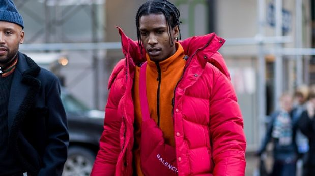 A$AP Rocky works 'gorpcore' at fashion week earlier this year.