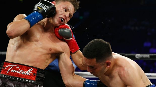 Daniel Franco (left, pictured fighting in 2016) is still in a coma.