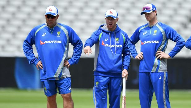 Coach Darren Lehmann (left) doesn't think the pay dispute influenced Australia's Champions Trophy performance.