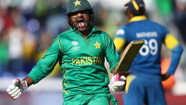Leading from the front: Pakistan skipper Sarfraz Ahmed steered his side to victory.