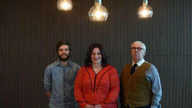 The Funding Network participants Will Small , Margo Ward and John Kirkman, before their live crowdfunding pitches.