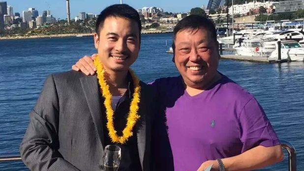 Simon Zhou with Labor NSW upper house member Ernest Wong.