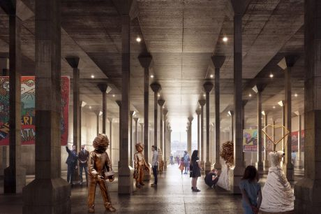 An artist's impression shows what the new Oil Tank Gallery could look like.