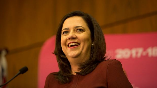 Premier Annastacia Palaszczuk is continuing the budget sell, after it was handed down on Tuesday.