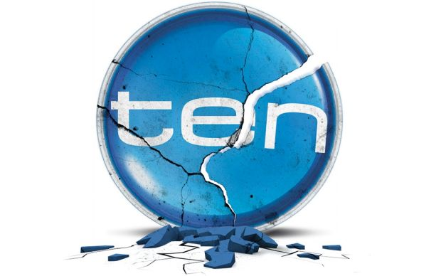 Crumbling Channel Ten logo graphic