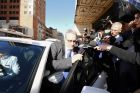 ATO deputy commissioner Michael Cranston leaves court on Tuesday.