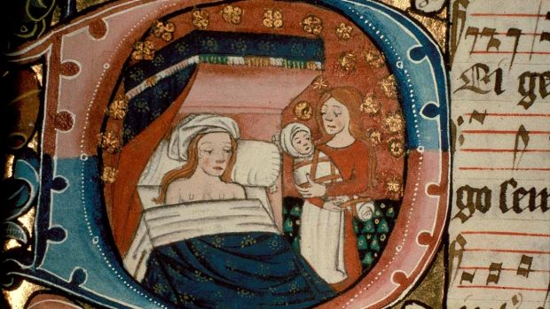 Childbirth back in the pre-germ-theory era was evidently pretty chill.