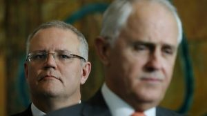 "Treasurer Scott Morrison has warned the voters are sick of ""politics as usual""."