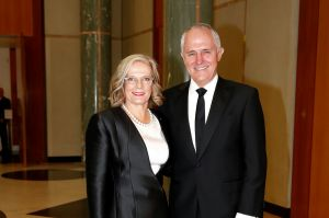Lucy Turnbull and Prime Minister Malcolm Turnbull. Midwinter Ball at Parliament House in Canberra on Wednesday 14 June ...
