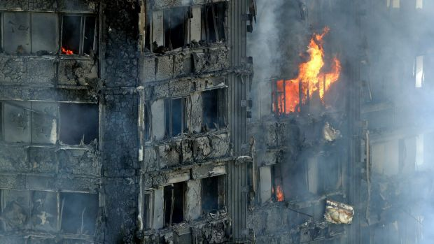 London tower fire: 'People jumped out of their windows'