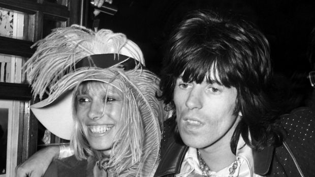 Anita Pallenberg and her Rolling Stone partner Keith Richards in 1968.