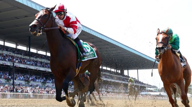 Beautiful music: Songbird with jockey Mike Smith up wins the Ogden Phipps at Belmont Park to record her 12th victory ...