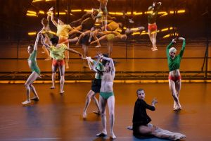 The production features dancers from Wayne McGregor's company and the Paris Opera Ballet.