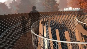 The sculpture will be made from corten steel and have a rust-like exterior.