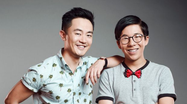 Benjamin Law, left, with Trystan Go from his SBS show <I>The Family Law</I>, will write for the stage for the first time.