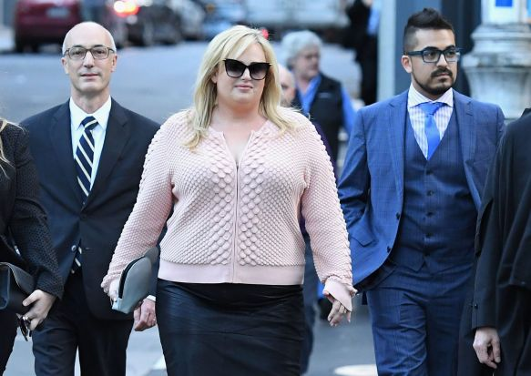 Rebel Wilson leaves the Supreme Court on May 22, 2017 in Melbourne, Australia.