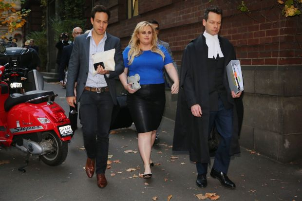 Actor Rebel Wilson leaves the Melbourne Supreme Court on May 24, 2017 in Melbourne, Australia.