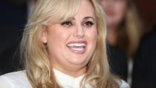 Rebel Wilson out the front of the Victorian Supreme Court after a jury returned unanimous verdicts in favour of her.