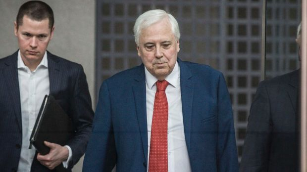 Clive Palmer is in a Perth court as his private firm Mineralogy fights a legal battle with estranged joint-venture ...