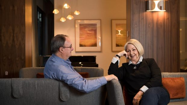 Jeff and Judi Parry have downsized to a smaller apartment in a retirement village in Carlton, Melbourne.