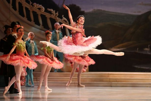 Ako Kondo performs as Princess Aurora during a dress rehearsal of David McAllister's production of The Sleeping Beauty ...