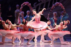 Ako Kondo (centre) performs as Princess Aurora during a dress rehearsal of David McAllister's production of The Sleeping ...